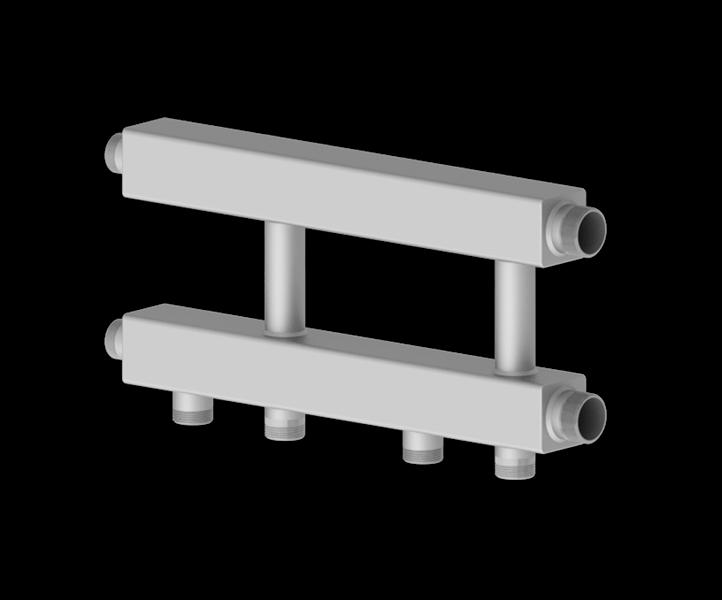 Каскадный узел горизонтального типа из нержавеющей стали Север KUG