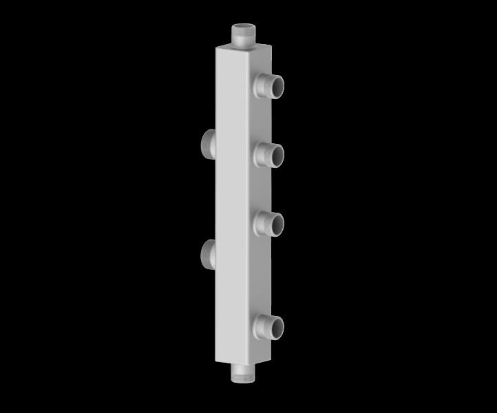 Каскадный узел вертикального типа из нержавеющей стали Север KUV