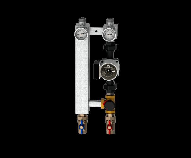 Насосная группа с трехходовым смесительным клапаном Север S 2560
