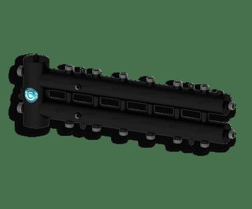 Гидрострелка Гидроразделитель Гидравлический разделитель совмещенный с коллектором на 7 контуров 70 кВт