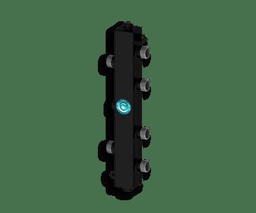 Гидрострелка Гидроразделитель Гидравлический разделитель на 2 контура 50 кВт, с муфтами под воздухоотводчик, грязевик и магнитный уловитель