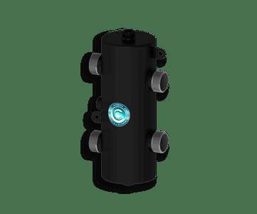 Гидрострелка Гидроразделитель Гидравлический разделитель универсальный 70 кВт, с муфтами под воздухоотводчик, грязевик и магнитный уловитель