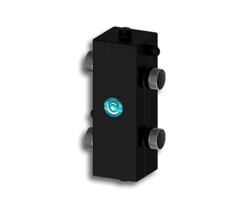 Гидрострелка Гидроразделитель Гидравлический разделитель универсальный на 70 кВт с муфтами под воздухоотводчик, грязевик и магнитный уловитель