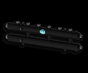 Гидрострелка Гидроразделитель Гидравлический коллектор универсальный на 4 контура с муфтами для термометров и воздухоотводчика