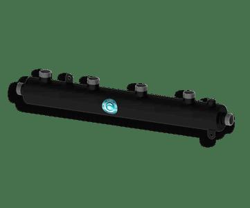 Гидрострелка Гидроразделитель Гидравлический коллектор универсальный на 4 выхода с муфтой для воздухоотводчика