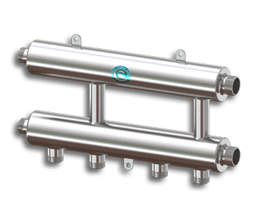 Гидрострелка Гидроразделитель Каскадный узел горизонтального типа из нержавеющей стали Север R KUG