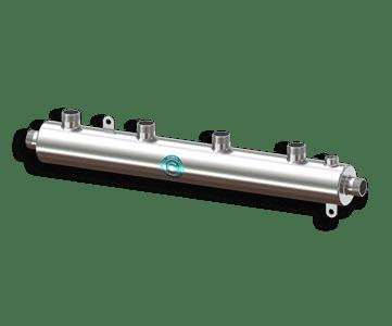 Гидрострелка Гидроразделитель Гидравлический коллектор универсальный на 4 выхода с муфтой для воздухоотводчика из нержавеющей стали
