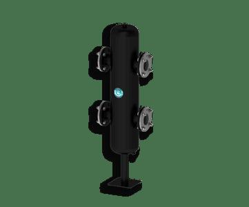 Гидрострелка Гидроразделитель Гидравлический разделитель повышенной мощности 360 кВт с фланцевым подключением ДУ 80