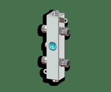 Гидрострелка Гидроразделитель Гидравлический разделитель из нержавеющей стали на 50 кВт с муфтами под воздухоотводчик, грязевик и магнитный уловитель
