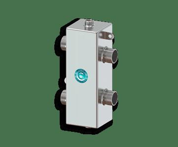 Гидрострелка Гидроразделитель Гидравлический разделитель из нержавеющей стали 70 кВт, с муфтами под воздухоотводчик, грязевик и магнитный уловитель
