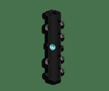 Гидрострелка Гидроразделитель Гидравлический разделитель на 2 контура 70 кВт, с муфтами под воздухоотводчик, грязевик и магнитный уловитель