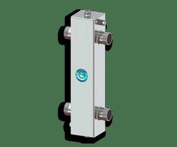 Гидрострелка Гидроразделитель Гидравлический разделитель из нержавеющей стали 100 кВт, с муфтами под воздухоотводчик, грязевик и магнитный уловитель