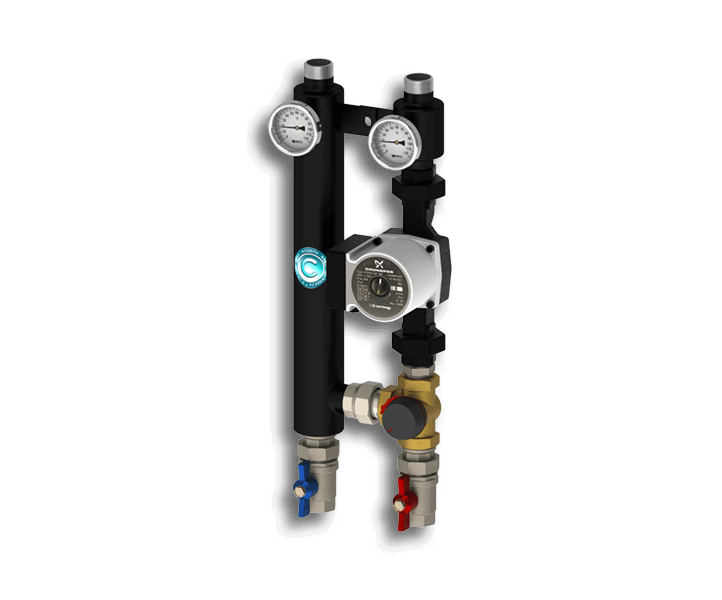 Гидрострелка Гидроразделитель Насосная группа с трехходовым смесительным клапаном Север R S 25/60