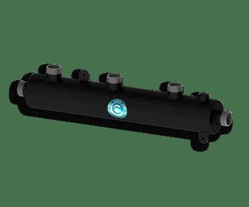 Гидрострелка Гидроразделитель Гидравлический коллектор универсальный на 3 выхода с муфтой для воздухоотводчика