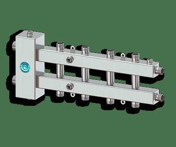 Гидрострелка Гидроразделитель Гидравлический разделитель совмещенный с коллектором на 5 контуров 70 кВт из нержавеющей стали