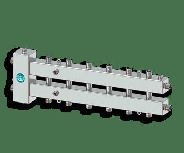 Гидрострелка Гидроразделитель Гидравлический разделитель совмещенный с коллектором на 7 контуров 70 кВт из нержавеющей стали
