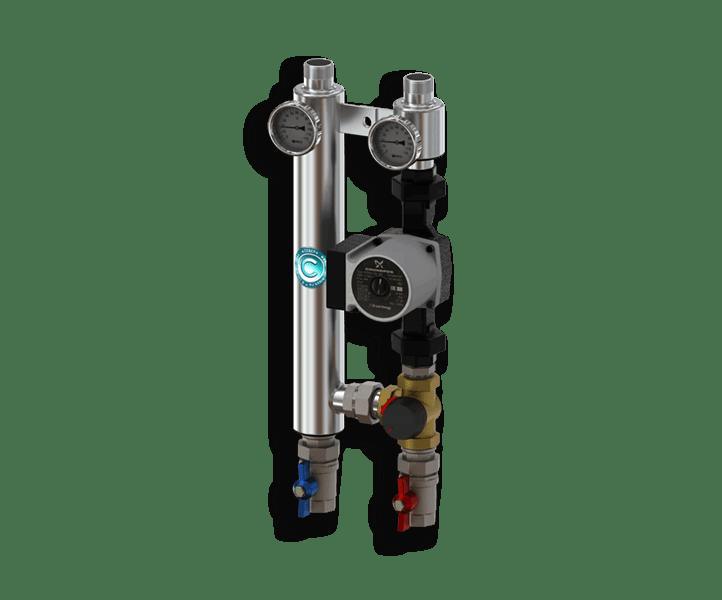 Гидрострелка Гидроразделитель Насосная группа с трехходовым смесительным клапаном из нержавеющей стали Север R S 25/60