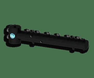 Гидрострелка Гидроразделитель Гидравлический разделитель совмещенный с коллектором горизонтальный на 3 контура 50 кВт