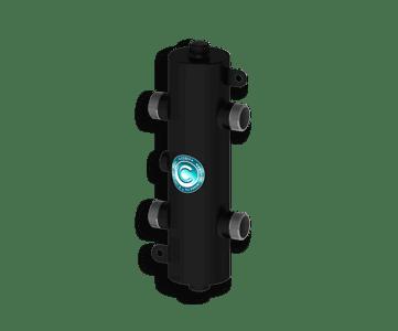 Гидрострелка Гидроразделитель Гидравлический разделитель универсальный на 50 кВт с муфтами под воздухоотводчик, грязевик и магнитный уловитель