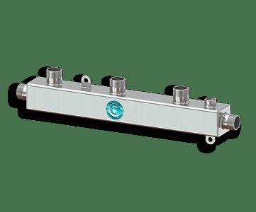 Гидрострелка Гидроразделитель Гидравлический коллектор универсальный на 3 выхода с муфтой для воздухоотводчика из нержавеющей стали