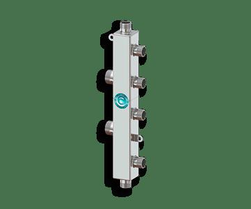 Гидрострелка Гидроразделитель Каскадный узел вертикального типа из нержавеющей стали Север KUV