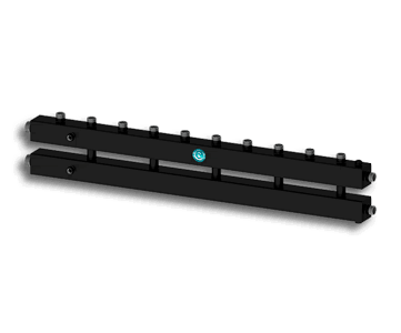Гидрострелка Гидроразделитель Гидравлический коллектор универсальный на 6 контуров с муфтами для термометров и воздухоотводчика