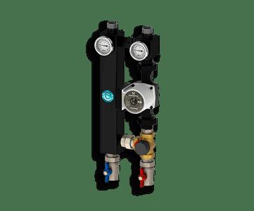 Гидрострелка Гидроразделитель Насосная группа с трехходовым смесительным клапаном Север S 2560