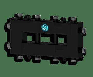 Гидрострелка Гидроразделитель Гидравлический разделитель совмещенный с коллектором компактный на 5 контуров 50 кВт