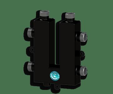Гидрострелка Гидроразделитель Гидравлический коллектор кольцевой на 2 выхода с дополнительной муфтой