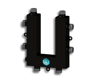 Гидрострелка Гидроразделитель Гидравлический коллектор кольцевой на 3 выхода с дополнительной муфтой