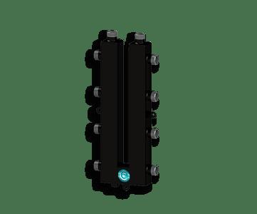 Гидрострелка Гидроразделитель Гидравлический коллектор кольцевой на 4 выхода с дополнительной муфтой