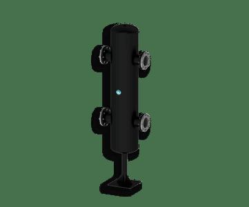 Гидрострелка Гидроразделитель Гидравлический разделитель повышенной мощности 2000 кВт с фланцевым подключением ДУ 150