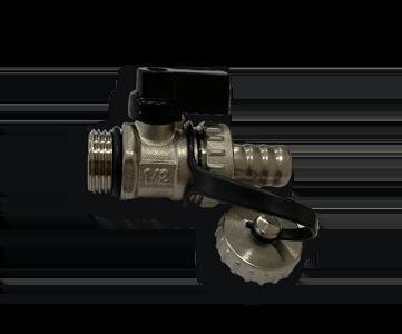 Гидрострелка Гидроразделитель Кран шаровой, дренажный с заглушкой Lavita