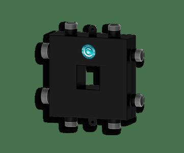Гидрострелка Гидроразделитель Гидравлический разделитель совмещенный с коллектором компактный на 3 контура 50 кВт