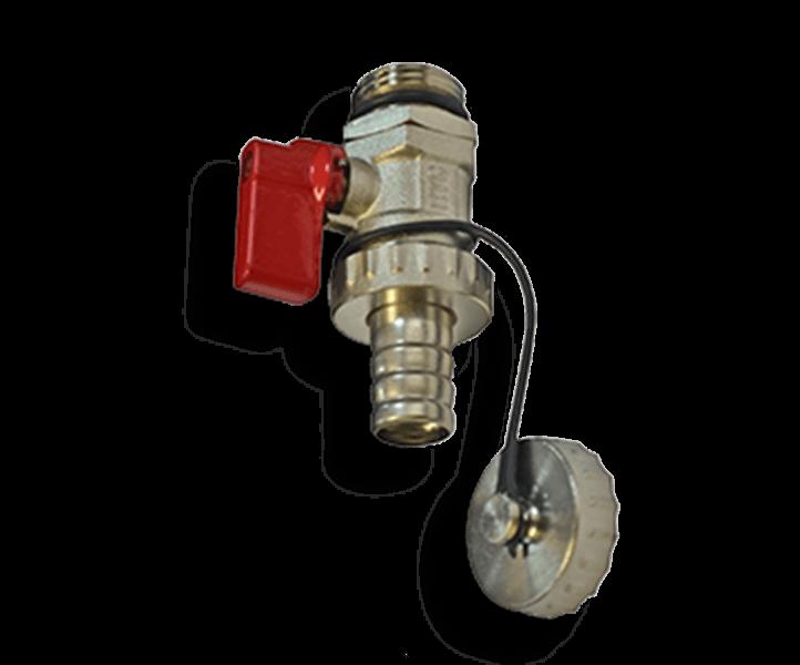 Гидрострелка Гидроразделитель Кран шаровой, дренажный с заглушкой ProFactor