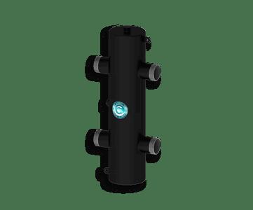Гидрострелка Гидроразделитель Гидравлический разделитель универсальный 140 кВт, с муфтами под воздухоотводчик, грязевик и магнитный уловитель