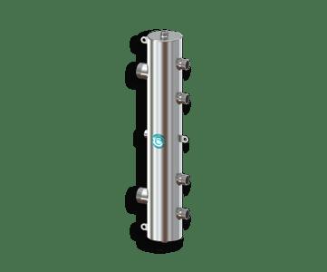Гидрострелка Гидроразделитель Гидравлический разделитель на 2 контура из нержавеющей стали 100 кВт, с муфтами под воздухоотводчик, грязевик и магнитный уловитель