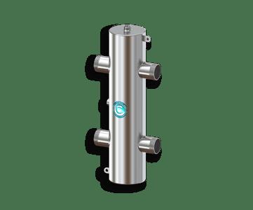Гидрострелка Гидроразделитель Гидравлический разделитель из нержавеющей стали 140 кВт, с муфтами под воздухоотводчик, грязевик и магнитный уловитель
