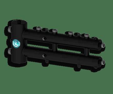 Гидрострелка Гидроразделитель Гидравлический разделитель совмещенный с коллектором на 3 контура 70 кВт