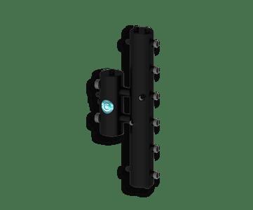 Гидрострелка Гидроразделитель Гидравлический разделитель совмещенный с коллектором вертикальный на 3 контура 70 кВт